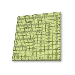 RÉGUA PARA PATCHWORK 31,5 x 31,5 CM - COM 0,25 CM - 26390