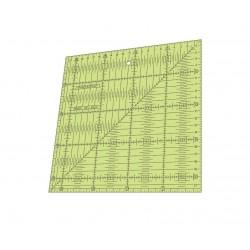 RÉGUA PARA PATCHWORK - QUADRADO 22 x 22CM COM 0,25 - 26420