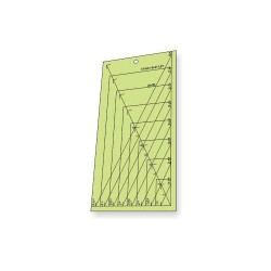 "Régua para Patchwork - Meio Retângulo - 4,5"" x 8,5"" polegadas - 26416"