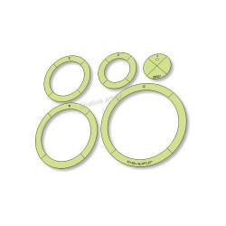 Gabarito para Patchwork - Circular Par 4-6-8-10-12 cm - 26027