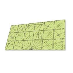 Régua para Patchwork - 15 x 30 cm - 5 ângulos - 26318