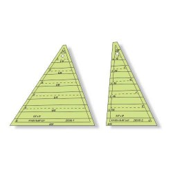 "Régua para Patchwork - Triângulo 53 graus x 6,5"" pol - Tri Recs - 26316"
