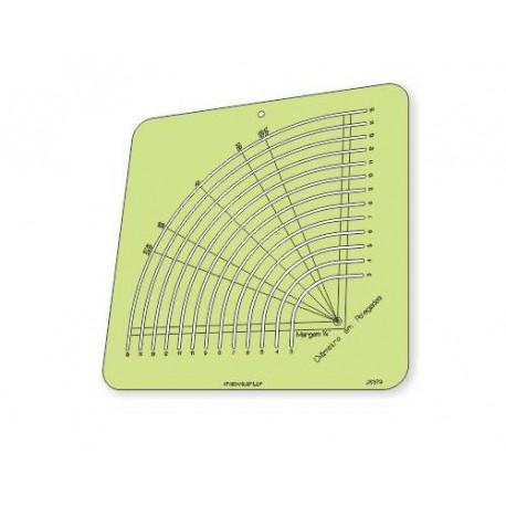 """Régua para Patchwork - Círculo Fácil de 3"""" a 15"""" polegadas - 26379"""
