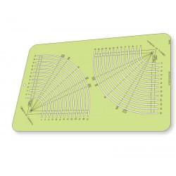 Régua para Patchwork - Círculo Fácil de 6 cm a 31 cm - 26440