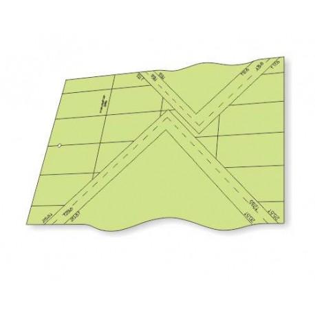 Régua para Patchwork - Curvas em Quadrados - 26153