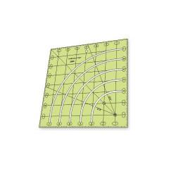 """Régua para Patchwork - Círculo Fácil - 3"""", 4"""", 5"""", 6"""" e 7"""" pol - 26378"""