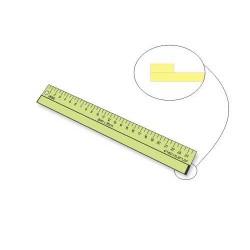 Régua para Foundation - 6 mm x 2,5 cm x 25 cm - 26050