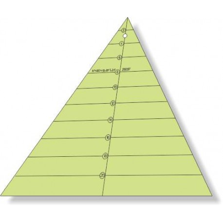 Triângulo 60 graus x 20 cm x 6 pétalas - 26037