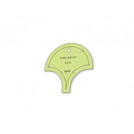 Gabarito para Patchwork - Concha 8 cm - 26004