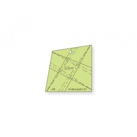 Régua Para Patchwork - Entrelaçado 3,5 cm - 26414