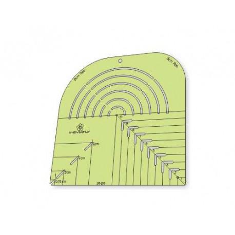 Gabarito 3 em 1 - Canto Mitrado, Caixa de Leite e Curvas - 26426