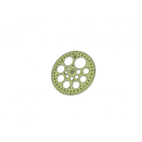 Gabarito Círculos - 11 cm e com 16 tamanhos menores - 26460