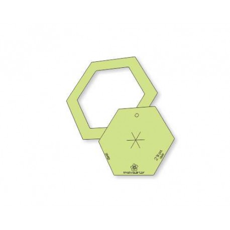 """Hexágono 2,5"""" polegadas com borda - 26462"""