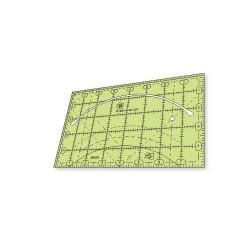 """Régua para Patchwork 5"""" x 8"""" pol com curva - QCR Mini - 26486"""