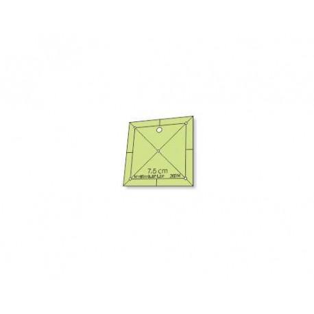 Régua para Patchwork - Quadrado 7,5 cm - 26014