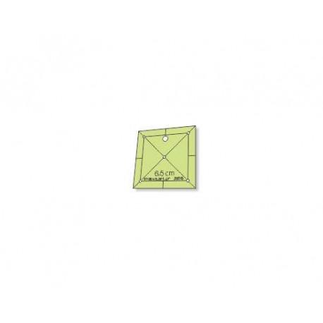 Régua para Patchwork - Quadrado 6,5 cm - 26015